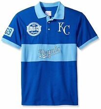 Kansas City Royals SS Polo Rugby Shirt~BLUE~Klew~Cotton~Men's M~MLB~Ships FREE