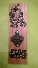 New listing Star Wars R2D2 Bottle opener Carved Cherry Wood American Made Home Made