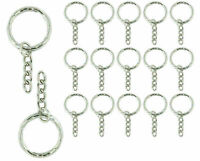 Metal Blank Keyring Keychain Split Ring Key Holder Rings DIY Pendant Accessories