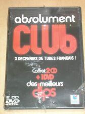 BOITIER 2 CD + 1 DVD / ABSOLUMENT CLUB / 3 DECENNIES DE TUBES FRANCAIS / NEUF