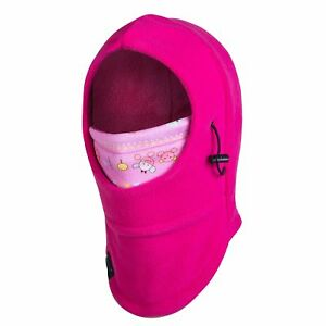 Kids Face Mask Girl's Balaclava Winter Ski Hood Neck Thermal Fleece Windproof