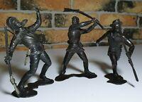 Vintage plastic toy soldier USSR Soviet Russia lot 3pcs