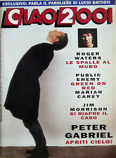 CIAO 2001 44 1992 Peter Gabriel Mariah Carey Roger Waters Green On Red Battisti
