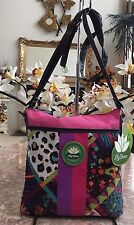 NWT Lily Bloom Karma Bloom Pink Multi-Color Floral Nylon Cross-body  Bag
