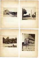 Roma Lotto di quattro singole piccole foto all' albumina originali 1860c S1550