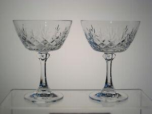 "TRADITION SPIEGELAU aka CANTERBURY BELKRAFT Champagne Sherbet 5 3/8"" Set/2"