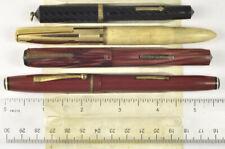 4 vintage fountain pens 1930s unrestored, Morrison, Wearever, etc.