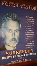 """40x60"""" Huge Tour Subway Poster~Roger Taylor Surrender 1999 Concert Live Dates~"""