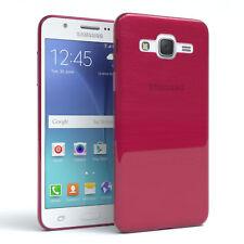 Schutz Hülle für Samsung Galaxy J5 (2015) Brushed Cover Handy Case Pink