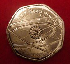 UK Sir ISAAC NEWTON 50P COIN RARE ✴️MINT CONDITION✴️ 2017