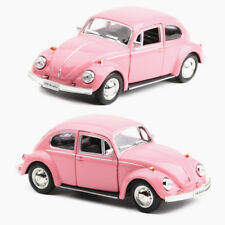 """Classic VW Beetle 1967 Model Cars 5"""" Pull back function Toys Pink Alloy Diecast"""