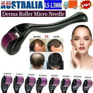 540 Titanium Micro Needle Derma Roller Beard Hair Growth Skin Care 0.5-1.5MM💥💥