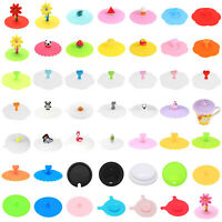 Silicone Leakproof Tea Coffee Mug Suction Lid Cap Airtight Sealed Cup Cover Cap