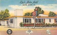 Baton Rouge Louisiana Roy's Motor Hotel Vintage Postcard AA32079