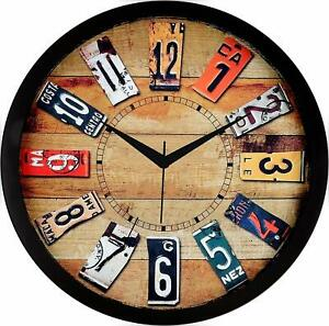 Modern Large Wall Clock Unique Big Number Watch DIY Home Decor Multi color