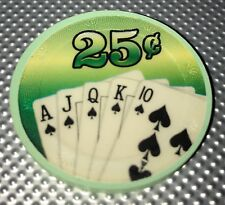 Blue Chip Poker Co Clay $0.25 Poker Chip