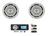 AQUATIC Marine Radio mit Bluetooth und Lautsprecher 18,8cm als Starter Set Boot