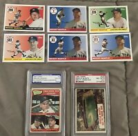 Mickey Mantle Card Collection With Very Nice Graded Cards