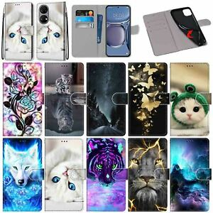 For Huawei Y7A Y9A Xiaomi Mi 11i 10T Patterns Leather Wallet Stand Case Cover