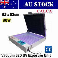 52 x 62cm Tabletop Precise 80W Vacuum LED UV Exposure Unit Silk Screen Printing