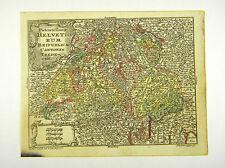 SCHWEIZ ZÜRICH GENF BERN EUROPA ALTKOL KUPFERSTICH KARTE LOTTER 1762 AD  #D916S