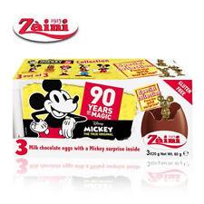 [Zaini] 90 Years Mickey Milk Chocolate Egg Collectible Toys Inside 3 Eggs Italy