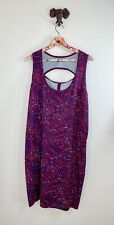 Woolrich Dress womens plus size 2xl pink purple abstract athletic pullover shift