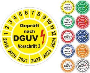Geprüft nach DGUV Vorschrift 3 UVV Prüfplaketten 20mm 50 bis 10000 Stk BGVA3