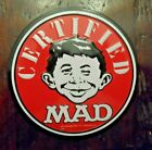"""Certified MAD collectible magnet Alfred E Neuman souvenir 4 1/4"""""""