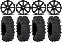 "MSA Black Clutch 14"" UTV Wheels 29"" XM310 Tires Can-Am Maverick X3"