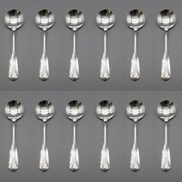 Oneida Silverplate Lady Hamilton 1985 Round Soup Spoons - Set of Twelve CUBE