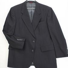 HART SCHAFFNER & MARX Vtg 90s Micron 2000 Black Sport Coat Suit Jacket Men's 42S