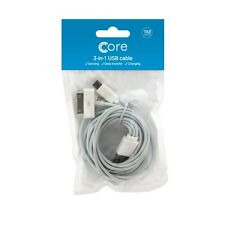 Authentic 3 In1 USB Charger Charging Sync Cable for Apple Android PHONES Tablet