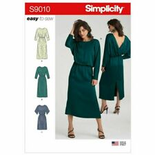 X NEW Simplicity Sewing Pattern 9010 (6-14) (14-22) Misses Wrap Back Dress