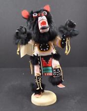 "Native American Indian Black Bear Kachina Decor By Gary Largo Navajo 17"" Y8"