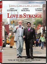 LOVE IS STRANGE JOHN LITHGOW ALFRED MOLINA MARISA IRA SACH.TOMEI NEW SEALED DVD