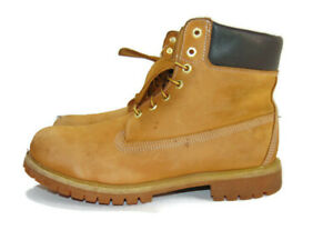 Timberland Boots Wheat Nubuck Lace Up Premium 6 Inch Waterproof Mens 12 10061