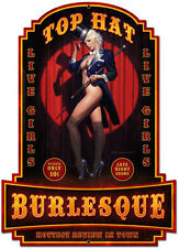 Top Hat Burlesque Pin Up Plasma Cut Metal Sign ( Greg Hildebrandt )