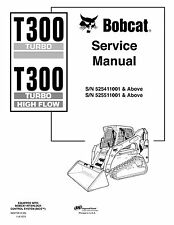 BOBCAT T300 Turbo & high flow loader 1,074 pages Service Manual - FREE SHIPPING!