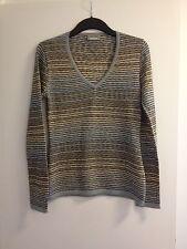 Lovely Ladies Sport Missoni Multi Striped V-Neck L/S Sweater/Jumper - Size 44