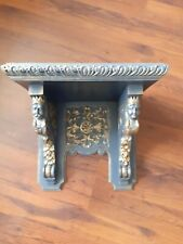 ANTIQUE GOTHIC CLOCK SHELF.MAHOGANY ?.SEE PICTURES.