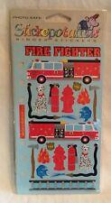 NEW Stickopotamus Binder Stickers - Fire Fighter Ladder Hose Hydrant Dog