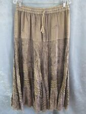 Flower Clothing Maxi Skirt One Size Fits Most S M L Tiered Embellished Boho Nwt