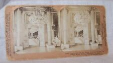 1903 STEREOVIEW-#10525 APT OF CROWN PRINCESS VICTORIA-BADEN-ROYAL PALACE-SWEDEN