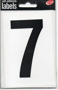 """CLUB - SELF-ADHESIVE LABELS - """"7"""" - HOUSE/DOOR/GATE NUMBERS - FREE UK POSTAGE"""