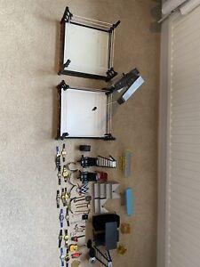 wwe accessories bundle, belts, rings, stretchers etc