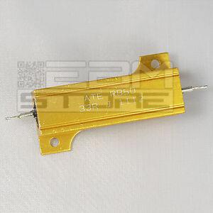 Resistenza corazzata 50 W 33 ohm corpo in alluminio - ART. N014