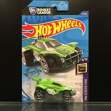 2019 Hot Wheels Rocket League - OCTANE #13/250, GREEN, HW Screen Time