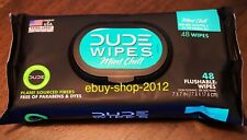 DUDE WIPES MINT CHILL 48 WIPE Dispenser Extra Large NEW! NOW THAT'S FRESH!