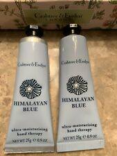 Crabtree & Evelyn Himalayan Blue Hand Therapy Rare Lot x 2 New Lotion Purse Sz